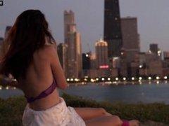 Emmy Rossum - Public outdoor Sex Scene, Boobs & Butt - Shameless s02e01