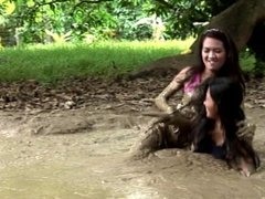 Cathy Angie Mud Part 1