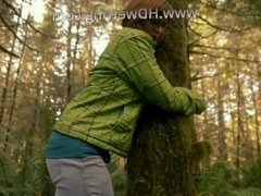 Handuffed to a tree in the forest and desperate to pee