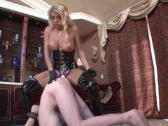 strap on mistress fucks slaveboy