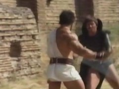 Lou Ferringo Fights Villian And Crushes Him In Strong Bearhug