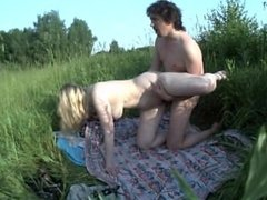 Marta gets fucked in the nature. Public