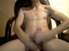 Straight White boy jerks it to some porn