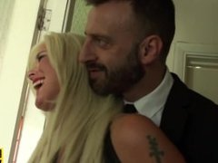 Inked brit sub Roxy Mae slapped by cuckold