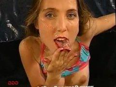 Kathy gets a good facial.