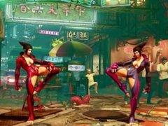 Juri barefoot Mod - Street Fighter V barefoot losing scenes
