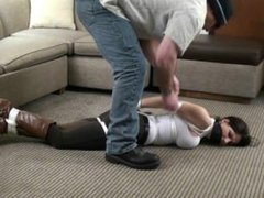 Hannah Perez Bound & Gagged in Riding Pants and Knee Boots (Tied in Heels)