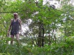P737 pornbube dressed men in black shorts forest 7c8a1 Mann bekleidet Wald