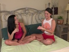 Masturbating each other Alaina Kristar and Gia Paige