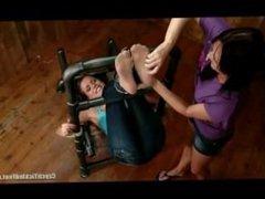 Sandra Gets Kari's Feet In Nylon [Only Nylon Feet Tickling]