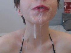 Throat Training With Dildo