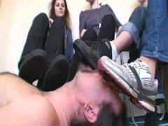 Sneaker licking 4girls