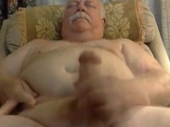 chubby daddy with beautiful cock cum