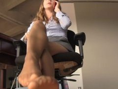 Nylon Foot domination