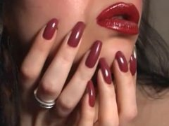 Lady in red lipstick
