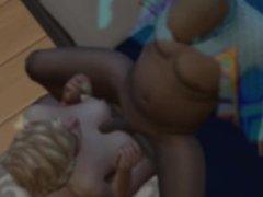 A dirty Sim 3d cartoon movie