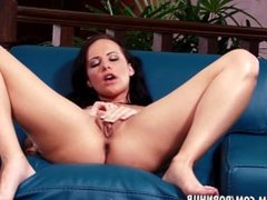 Katie St Ives plays with her feet and wet pussy