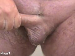 Amateur Mature Daddy Jerks Off After He Shaves His Cock & Balls Voyeur