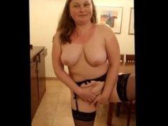 Amateur BBW teasing her lover on cam