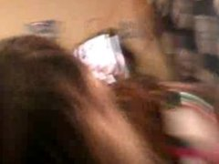 Wife get fucked doggy and sucking cock