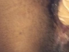 Black girl takes big white dick