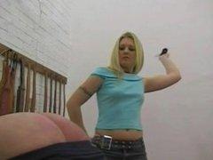 Mistress whips her slave