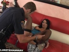 Vannah Sterling is saved by Police officer gets ass fucked to show thanks