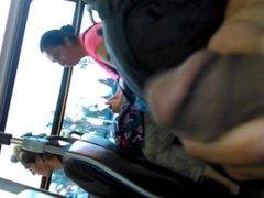 Masterbating on bus
