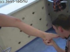 Worshiping Russian Foot Mistress's Feet