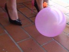 Heels and ballons