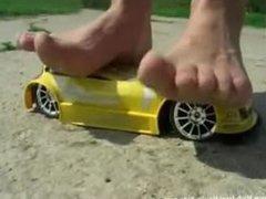girl crush toy car