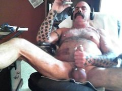 Dad with a cigar jacking and nip play