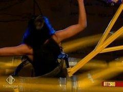 Juliana Moreira round metal game back mus and bic