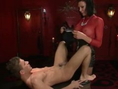 Shemale Morgan Bailey Fucks Slave boy in Dungeon