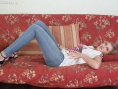 Hot tight jean Milena