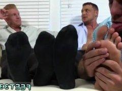 Jack off gay porn gif Ricky Worships Johnny & Joey's Feet