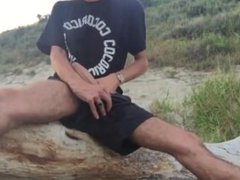 Busting a nut on the beach