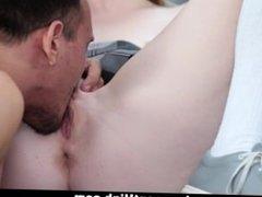 InnocentHigh - Redhead Slut Blows And Rides Her Profs Cock