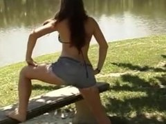 Fitness Girls Do Exercises Flex their Muscles and Lift & Carry each other