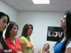 Lesbian ass licking hazing