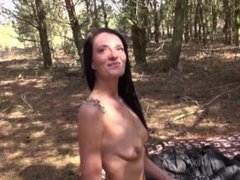 Stepsister fucks brother in the woods