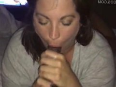 MATURE BRUNETTE BJ AND SWALLOW