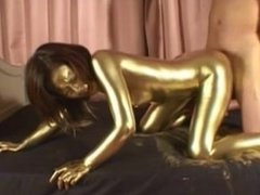 Gold Paint Dust 4
