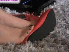 Black toe nails video gamer foot fetish