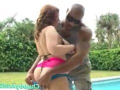 BBW Blonde Chloe Give Pool Boy A Blowjob