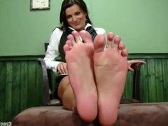 Russian office feet