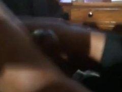 White toe nails footjob from ebony