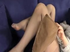 Sexy Pantyhose Nylon Stockings girl