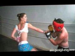 school girl alicia karate kicks