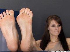 Long Toes Foot Tease
